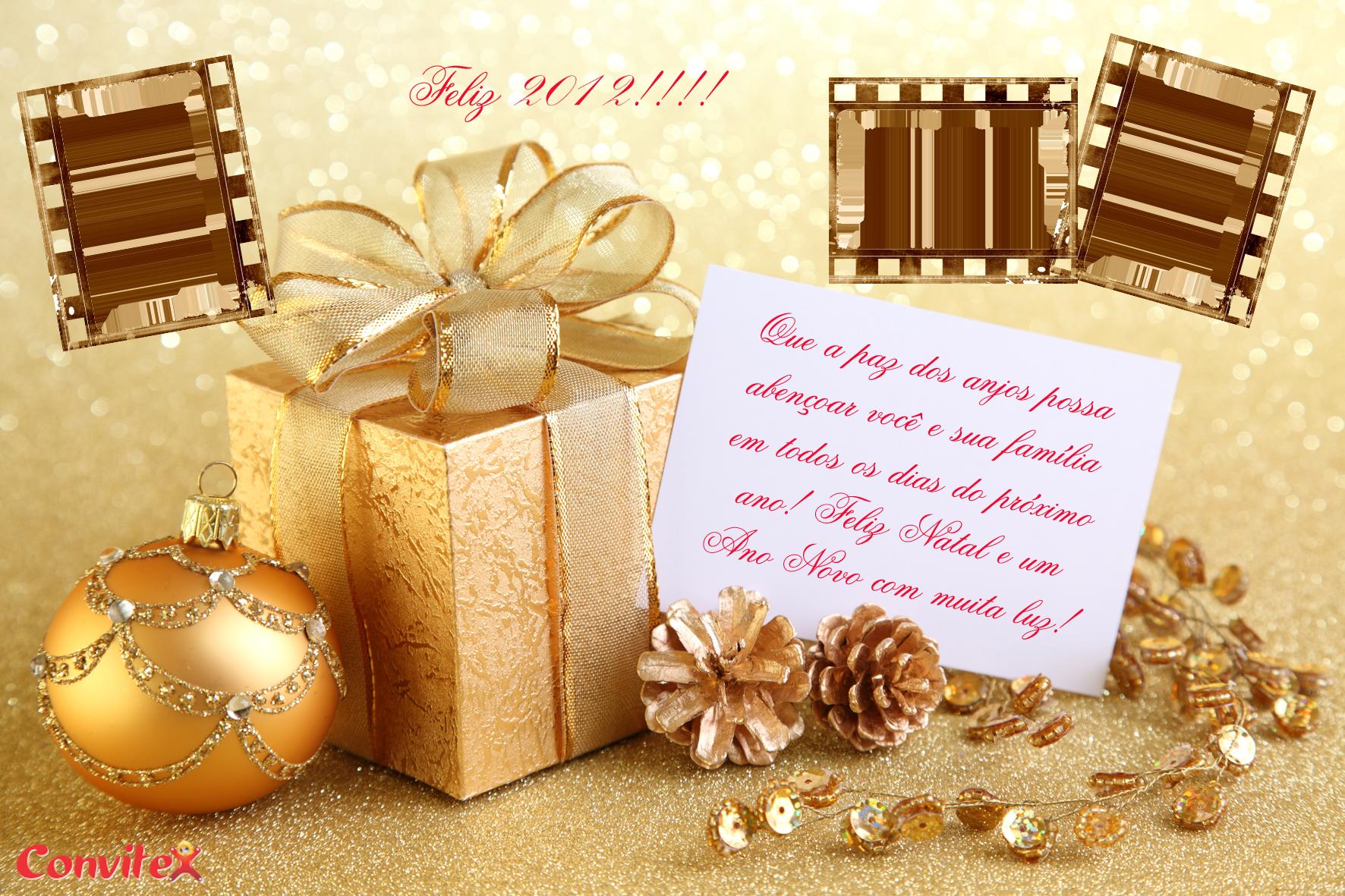Cartão De Natal Pronto Para Imprimir Convitex Página 2