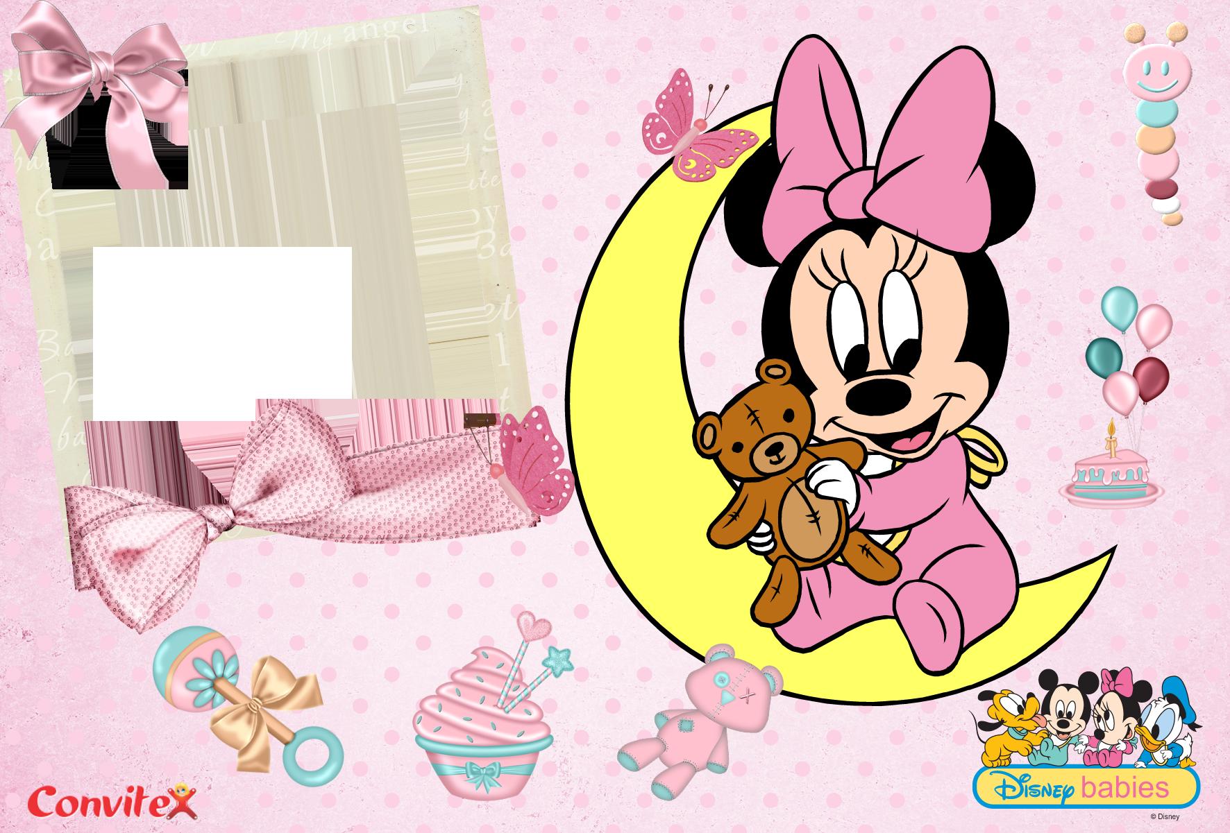Convite ou Frame Babie Disney 02 « Convitex