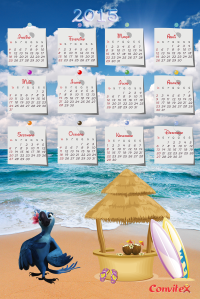 calendário Jade 2015 by convitex